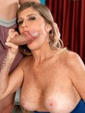 Stacked MILF Blair Sanders shows she knows what to do with truly enormous cocks