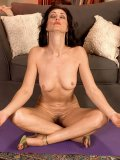 A naked yoga workout with flexible mommy ends up with a hot all-hole toying show
