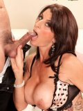 Heavily inked busty MILF porn star Blake James shows what her pussy is made for