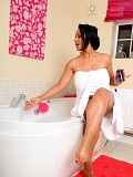 Gorgeous milf Danica loves to play in the bathtub squeezing shower gel all over her hot ass