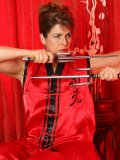 Want to see how this hot slut poses seductively in Kung Fu style? She is going to be your sex master!