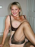 Gorgeous blonde mature babe loves to play with her husband's thick throbbing cock