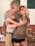 Mature sex bomb Kayla Anne brings a sexy young bag boy home and fucks him raw