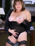 Sexy mom is totally fabulous in her sexy black attire! Join in for more fun with her!