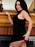 Stacked MILF shows what hides under her little black dress  she goes commando!
