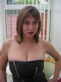 Almost fetishistic solo shoot from busty mommy that loves tight black leather