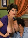 Hung black man gives busty oldie with a tat on her belly what she wants so badly