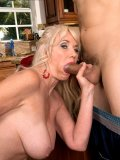 Granny Sumeran Winters gets both her pussy and her asshole drilled by young stud
