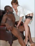 Sex-hungry British MILF tired of her hubbys pathetic cock plays with black dong