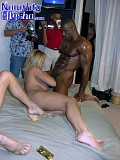Slutty blonde sweetie Alysha gangbanged by a bunch of well hung horny black guys