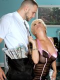 Tantalizing lady seduces the newspaper boy till she finally enjoys the sexual fun. See it now!