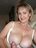 Busty Michelle lets her husband tittybang her incredible huge melons