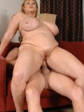 Chubby and amazingly stacked MILF porn star riding a stiff sturdy cock wildly