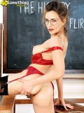 Is there any student around? Hot chick is going to strips in front of the blackboard!