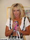 Insane pictures of a crazy blonde bitch who inserts a can of soda inside her big gaping pussy