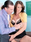 This horny cougar teacher loves to use a hands on approach with her students