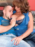 Plump redhead in her 50s puts her rocking body to use by riding her lover raw