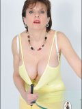 Bossy oldie with mouthwatering big titties is ready to whip the hell out of you