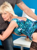 This flat-chested MILF makes up with her years of experience and sensual skills