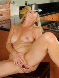 Wonder whats sexy mama doing when she is not cooking? She fucks for sexual fun!