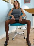 There is no one else in the office after work. Guess what horny chick will do in her office?