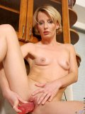 This slim mature blond with cute perky tits doesnt use any mainstream sex toys