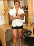 Hot chick is responsible at work. But sometimes she loosens up and gets horny. Want to see?