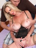Guy with serious dick piercing gets it on with busty older porn star Cassy Torri