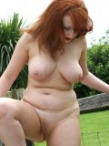 Bitchy slut takes off all her clothes and poses sexily in the farm for more fun!