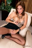 Sassy brunette mature milf Roni can't help looking hotter than ever in her slutty outfit