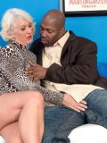 This kinky grandma loves the taste and feeling of a big black cock inside of her
