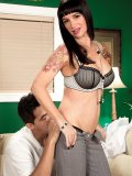 Young and kinky MILF with skanky tattoos bends over for a studs hot dick