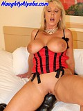 Gorgeous busty fetish queen plays with the largest dildos ever and gets them both deep inside her
