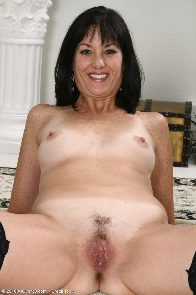 Mature older woman with big tit