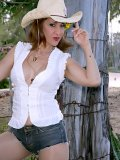 Super hot mature housewife Roni flaunts her sexy body dressed up as a cowgirl