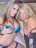 The two hottest blonde babes ever get busy teasing each other with their tongues