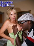 Hot pictures of a blonde bitch getting her wet cunt drilled by a gigantic black cock