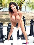 Deauxma gets wild and freaky by stripping and fucking a giant chess set