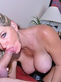 Hot blonde puts her juicy tits to good use by giving a sensual and firm titfuck