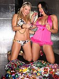 Two breathtakingly fine sluts get kinky with their Mardi Gras masks and beads